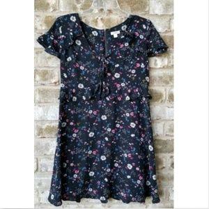 Xhilaration SZ L Black Multicolor Dress Peplum